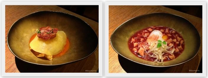 Ravioli y Huevo pato