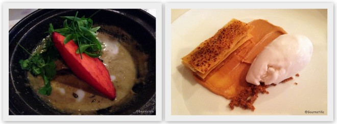 Curry verde y pastel banana
