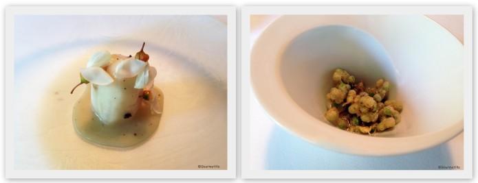 Tupinambo y fritura guisantes